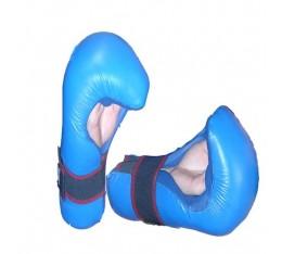 EON Sport  - Семи контакт  ръкавици / Естествена кожа (067 / Сини) Карате ръкавици