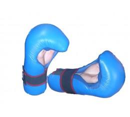 EON Sport  - Семи контакт  ръкавици / Изкуствена кожа (065 / Сини) Карате ръкавици