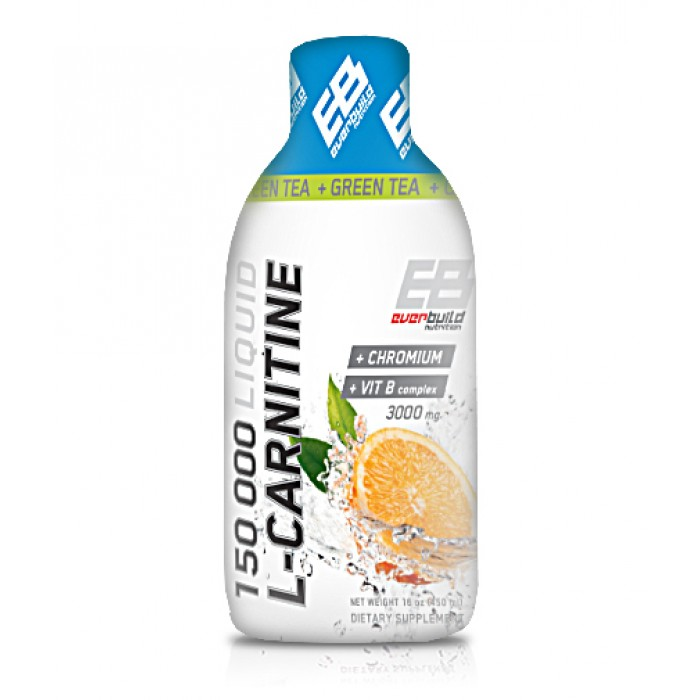 Everbuild - Liquid L-Carnitine 3000mg + Green Tea / 500 ml.