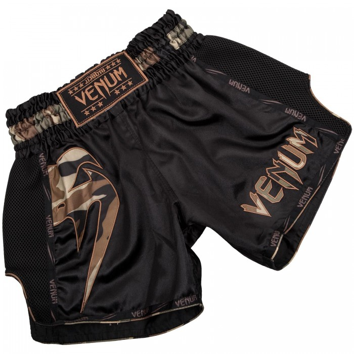Муай Тай Шорти - Venum Giant Muay Thai Shorts - Black/Forest Camo​