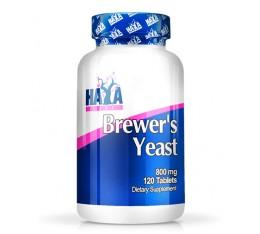 Haya Labs - Brewers Yeast 800mg. / 120 tabs. Хранителни добавки, Витамини, минерали и др., Витамин B