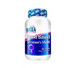 Haya Labs - Food Based Women's Multi / 60tabs. Хранителни добавки, Витамини, минерали и др., Мултивитамини