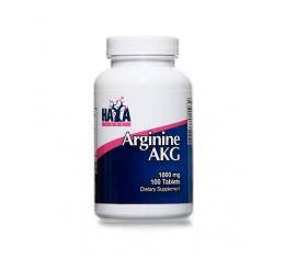 Haya Labs - Arginine AKG 1000mg. / 100 Tabs. Хранителни добавки, Аминокиселини, Аргинин