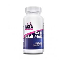 Haya Labs - Basic Adult Multivitamin / 100 tabs. Хранителни добавки, Витамини, минерали и др., Мултивитамини