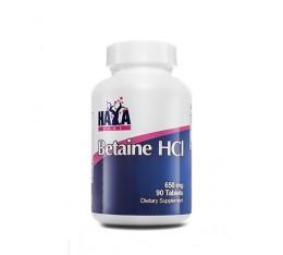 Haya Labs - Betaine HCL 650mg. / 90 Tabs. Хранителни добавки, Здраве и тонус, Ензими