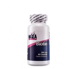 Haya Labs - Biotin 500mcg / 60 caps Хранителни добавки, Витамини, минерали и др., Витамин B