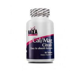 Haya Labs - Cal-Mag Citrate / 90 Vtabs. Хранителни добавки, Витамини, минерали и др., Витамин D, Калций и Магнезий, Магнезий