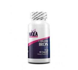 Haya Labs - Chelated Iron 18mg / 90 caps Хранителни добавки, Витамини, минерали и др., Желязо
