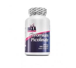 Haya Labs - Chromium Picolinate 200mcg / 100 caps Хранителни добавки, Хром Пиколинат, На билкова основа