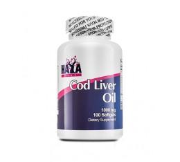 Haya Labs - Cod Liver Oil 1000mg / 100 softgel caps Хранителни добавки, Мастни киселини, Рибено масло