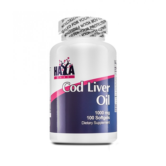 Haya Labs - Cod Liver Oil 1000mg / 100 softgel caps