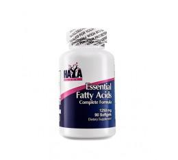 Haya Labs - Essential Fatty Acids 1250mg. / 90 softgels Хранителни добавки, Мастни киселини, Омега 3-6-9, Рибено масло