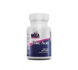 Haya Labs - Folic Acid 800mcg. / 200 Tabs. Хранителни добавки, Витамини, минерали и др., Витамин B