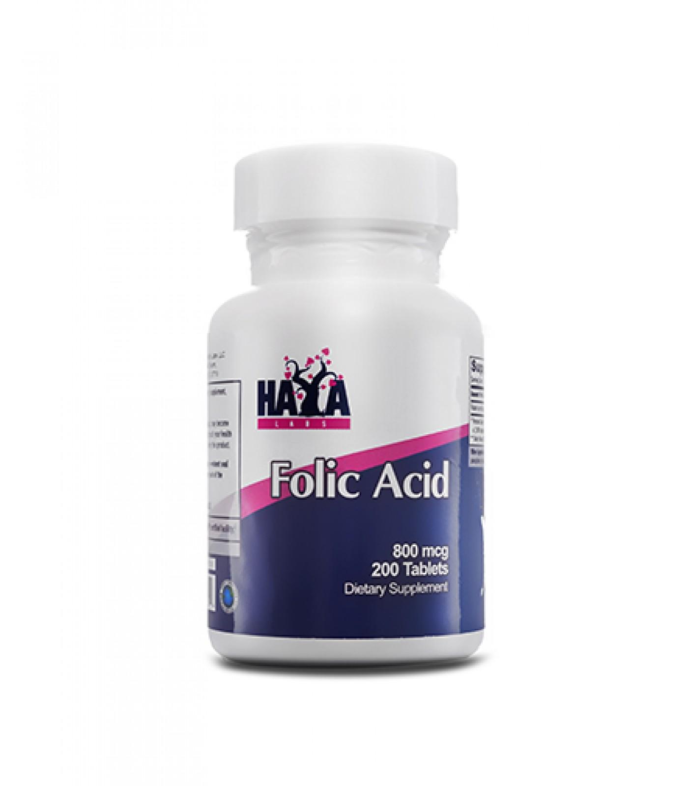 Haya Labs - Folic Acid 800mcg. / 200 Tabs.