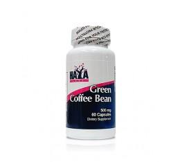 Haya Labs - Green Coffee Bean Extract 500mg. / 60 caps. Хранителни добавки, Отслабване, Кофеин