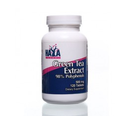 Haya Labs - Green Tea Extract 500mg / 120 tabs. Хранителни добавки, Антиоксиданти, Отслабване, Фет-Бърнари