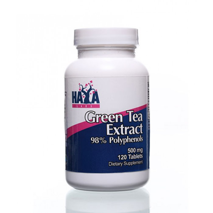 Haya Labs - Green Tea Extract 500mg / 120 tabs.