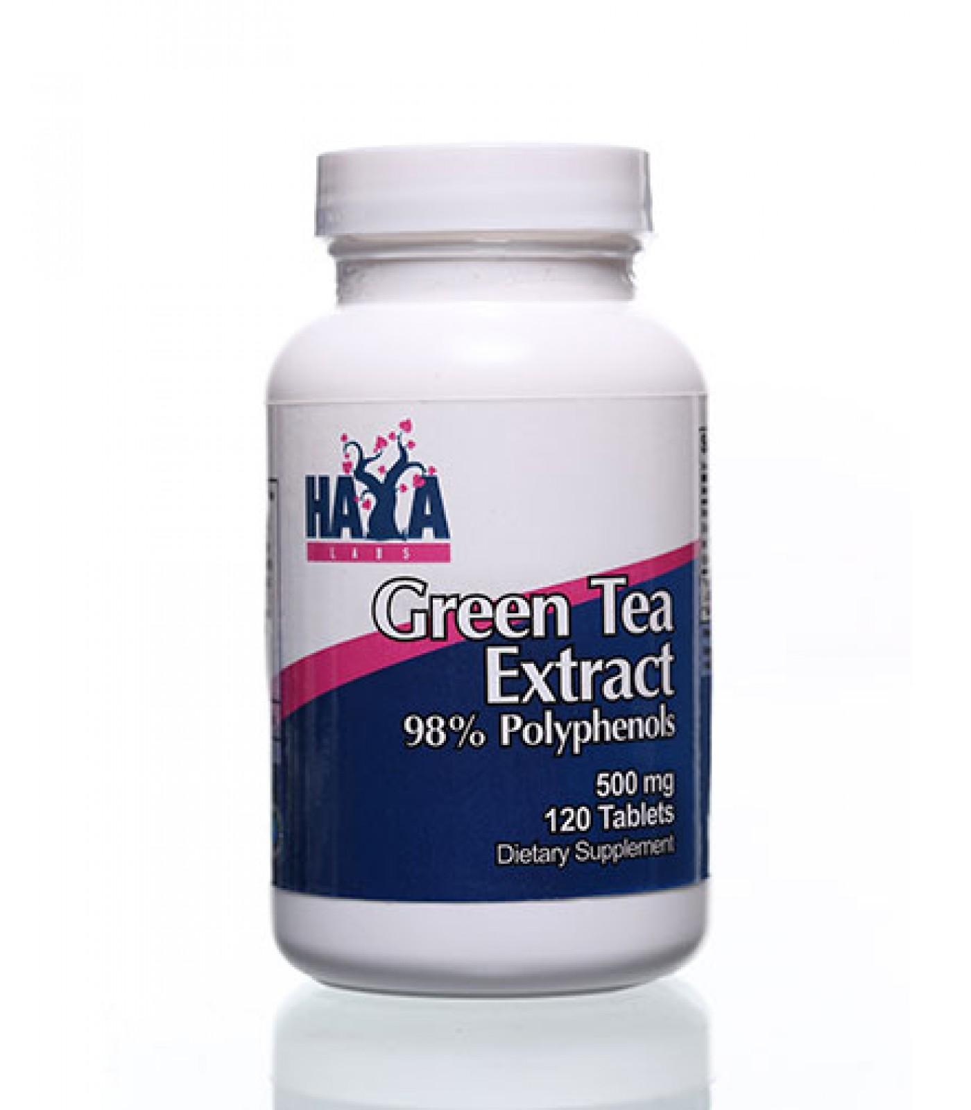 Haya Labs - Green Tea Extract 500mg / 120 tabs.
