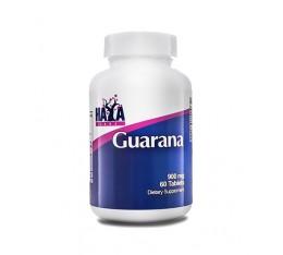 Haya Labs - Guarana 900mg / 60 tabs. Хранителни добавки, Енергийни продукти