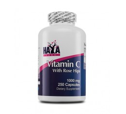 Haya Labs - High Potency Vitamin C with Rose Hips 1000mg / 250 tab Хранителни добавки, Витамини, минерали и др., Витамин C
