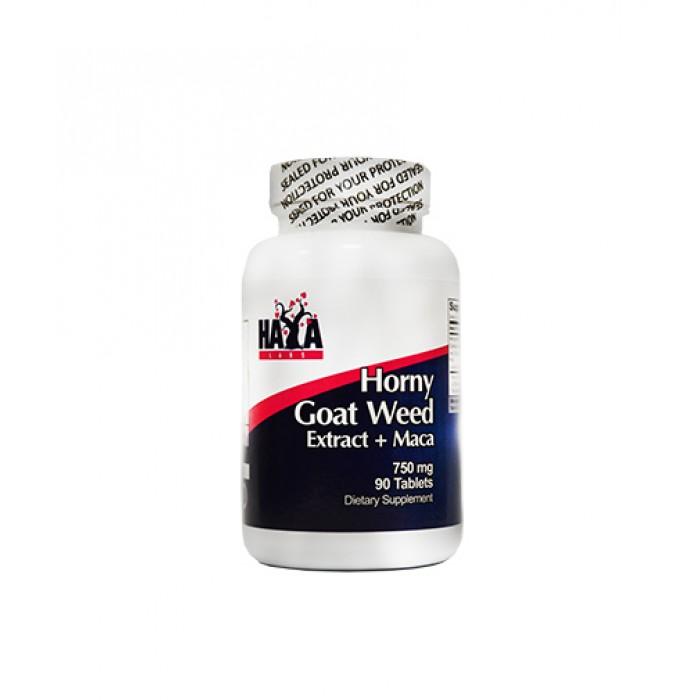 Haya Labs - Horny Goat Weed Extract 750 mg + MACA / 90 tabs.