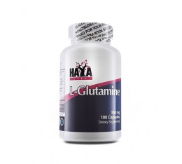 Haya Labs - L-Glutamine 500mg / 100 caps Хранителни добавки, Аминокиселини, Глутамин