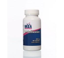 Haya Labs - L-Methionine 500mg / 60 caps. Хранителни добавки, Аминокиселини, Метионин