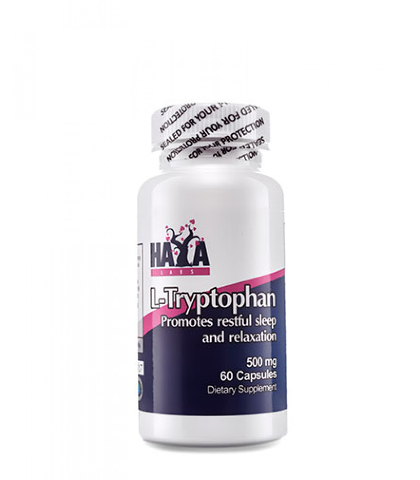 Haya Labs - L-Tryptophan 500mg. / 60 Caps