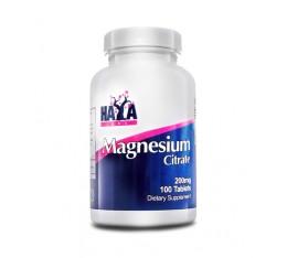 Haya Labs - Magnesium Citrate 200mg. / 100 tabs. Хранителни добавки, Витамини, минерали и др., Магнезий