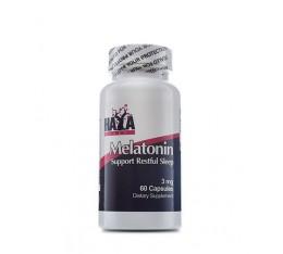 Haya Labs - Melatonin 3mg / 60 caps Хранителни добавки, Здраве и тонус, В подкрепа на съня