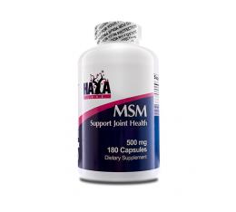 Haya Labs - MSM 500mg / 180 caps Хранителни добавки, За стави и сухожилия
