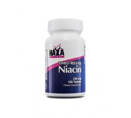 Haya Labs - Niacin (Time Release) 250mg. / 100 Tabs. Хранителни добавки, Витамини, минерали и др., Витамин B