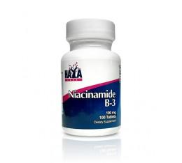 Haya Labs - Niacinamide 100mg. / 100 tabs. Хранителни добавки, Витамини, минерали и др., Витамин B