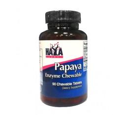 Haya Labs - Papaya Enzyme Chewable / 90 tabs. Хранителни добавки, На билкова основа