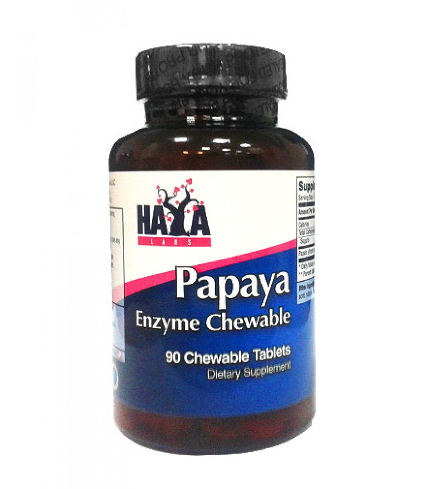 Haya Labs - Papaya Enzyme Chewable / 90 tabs.