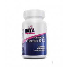 Haya Labs - Vitamin B12 (Sublingual) 2000mcg. / 100 Tabs.
