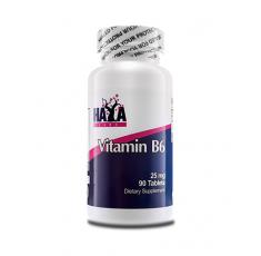 Haya Labs - Vitamin B6 25mg. / 90 tab Хранителни добавки, Витамини, минерали и др., Витамин B
