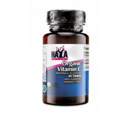 Haya Labs - Organic Vitamin C from Organic Acerola fruit / 60 Tabs. Хранителни добавки, Витамини, минерали и др., Витамин C