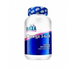 Haya Labs - Omega 3-6-9 / 200 softgel caps Хранителни добавки, Омега 3-6-9