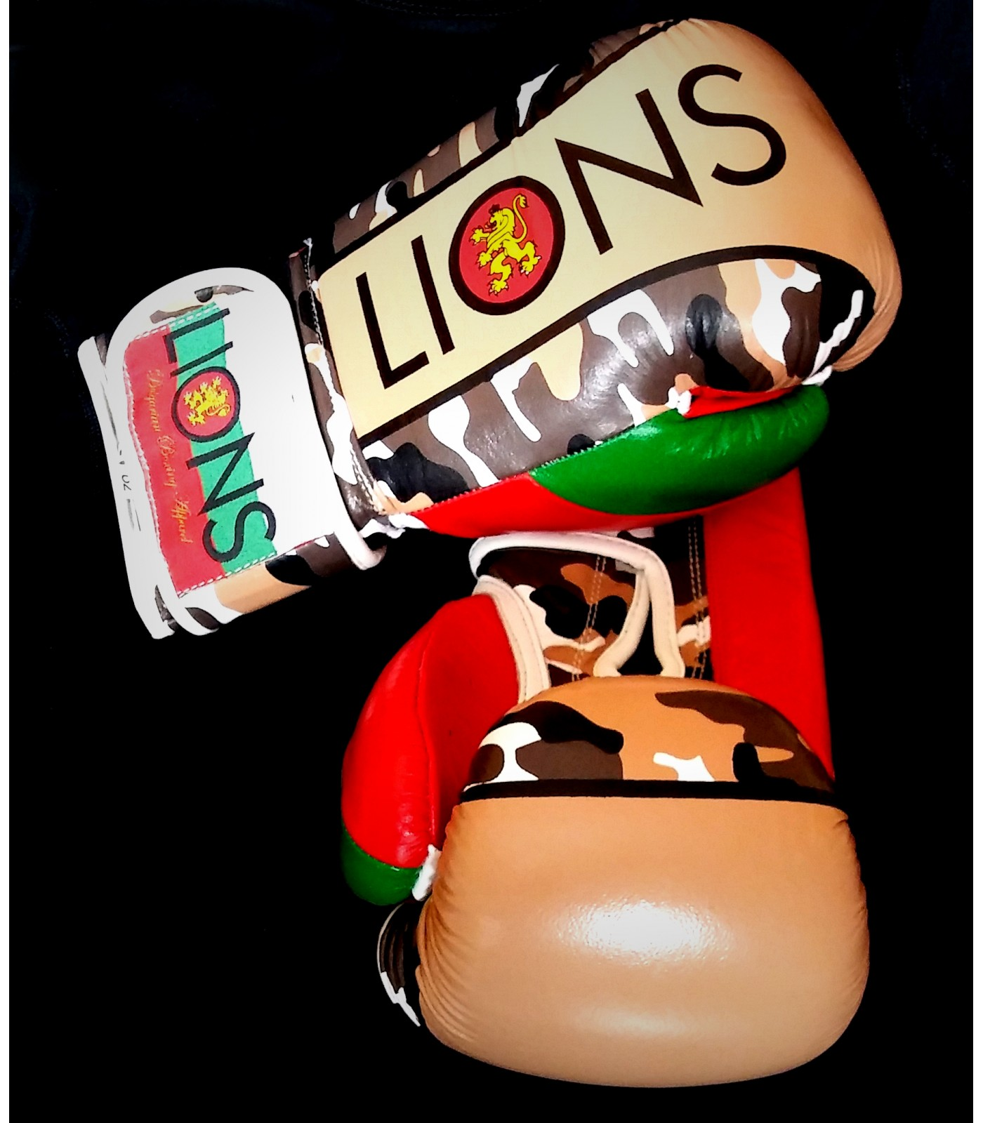 Lions - Боксови ръкавици / Urban Camo - естествена кожа