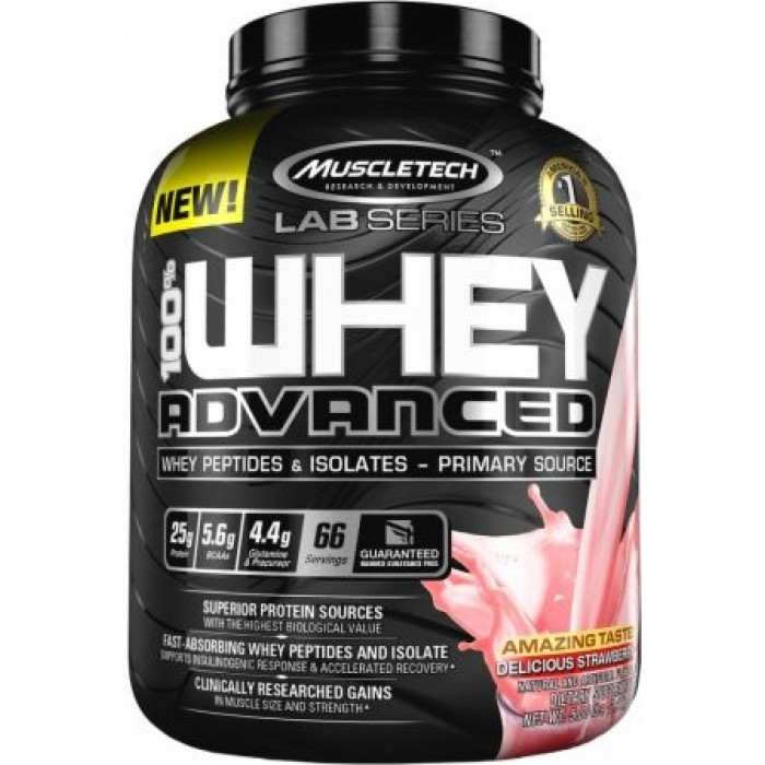 MuscleTech Lab Series - 100% Whey Advanced / 2lbs. + подарък Tениска​
