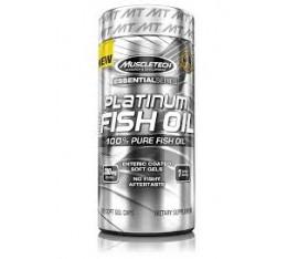 MuscleTech - Platinum 100% Fish Oil / 100 softgels. Хранителни добавки, Мастни киселини, Рибено масло