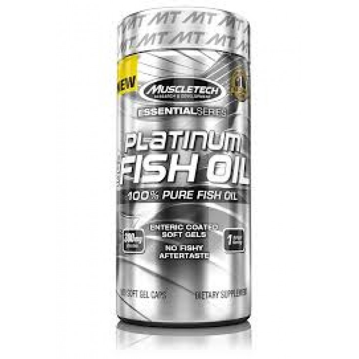 MuscleTech - Platinum 100% Fish Oil / 100 softgels.