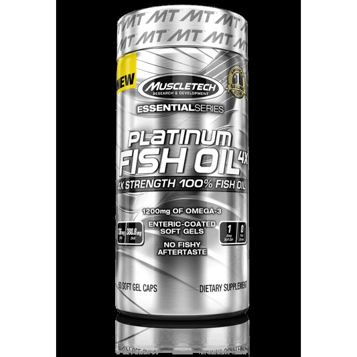 MuscleTech - Platinum Fish Oil 4X / 60 softgels.