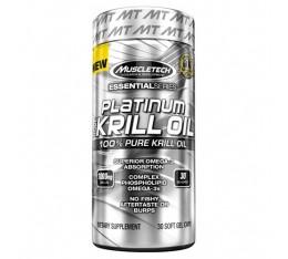 MuscleTech - Platinum Pure Krill Oil / 30 softgels. Хранителни добавки, Мастни киселини, Крилово масло