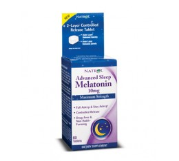 Natrol - Advanced Sleep Melatonin 10mg. / 60 tabs. Хранителни добавки, Здраве и тонус, В подкрепа на съня