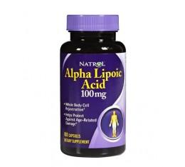 Natrol - Alpha Lipoic Acid 100 mg. / 100 caps. Хранителни добавки, Антиоксиданти, Алфа-Липоева киселина