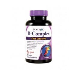 Natrol - B-100 Complex /Fast Disolve/ 90 tabs. Хранителни добавки, Витамини, минерали и др., Витамин B