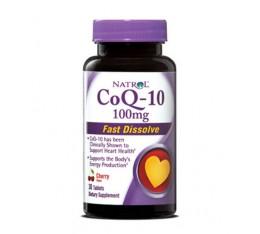 Natrol - Co-Q10 Fast Dissolve 100mg. / 30 tabs. Хранителни добавки, Антиоксиданти, Коензим Q10
