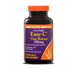 Natrol - Easy-C 500mg+Citrus Bios+B+Zinc -Time Release / 180 caps. Хранителни добавки, Витамини, минерали и др., Витамин C